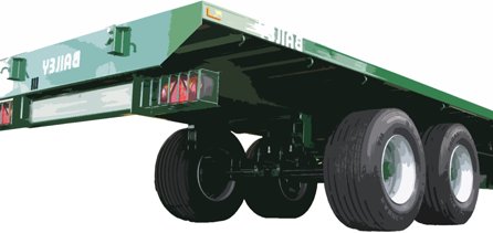 Bandenmarkt tyres on Green flat bed
