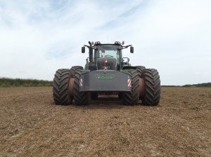 Michelin Axiobib on Duals Fendt Tractor c